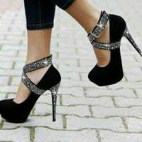 heels silang suede glitter