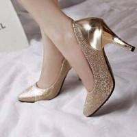 hrels glitter gold