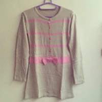 Pink Ribbon Baju Rajut atasan Rajut Baju Korea