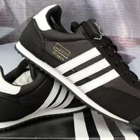 Sepatu Casual /Sepatu Kets / Running / Adidas Dragon Hitam Strip Putih