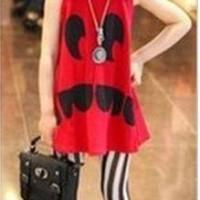 SALE ME807 RED GIRL SET setelan anak perempuan
