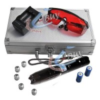 Laser Pointer Diode Biru 5 Mata 003 dengan Kacamata dan Tas Koper