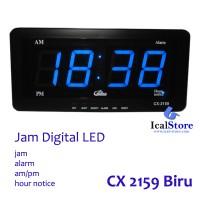 Jam Dinding Digital LED Tipe CX 2159 Biru