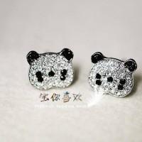 Anting cute panda blink blink