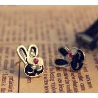 Anting cute kelinci rabbit hitam