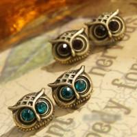 Anting burung hantu owl gemstone