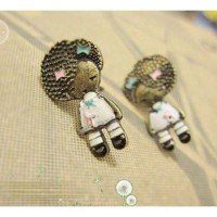 Anting cute afro doll girl