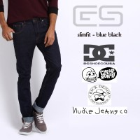 Celana Jeans Pria - Blue Black - DC - Cheapmonday - PSD - Kick Denim