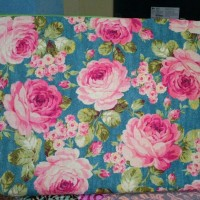 softcase laptop Handmade motif flower blue