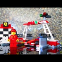 LEGO FERARRI SHELL FINISH LINE & PODIUM 40194