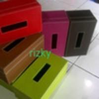 Kotak Tisu, Tempat Tisue Souvenir Bahan Vinyl / Kulit Sinteis
