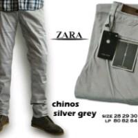 Celana Zara Chino Silver Grey