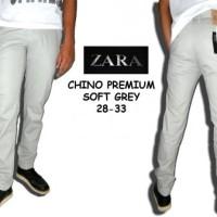 Celana panjang Chino Zara Soft Grey