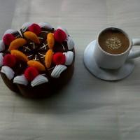Ornamen Cake Coffee Flanel O1