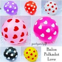 Balon Polkadot Love