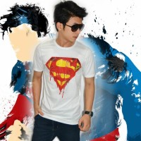 Kaos Superman Burn White