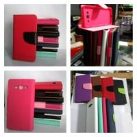 Wallet Leather Case Dompet Samsung Galaxy J1 SM-J100