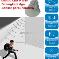 Lampu LED 5 watt with Sensor Gerak / motion