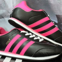 Adidas Italy Hitam Pink (sepatu running,lari,ket,casual)