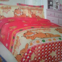 sprei garfield king size