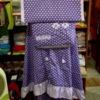 Mukena Anak (Standar, Polkadot Purple, Tas Segiempat)