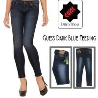 Celana Jeans Wanita Guess Soft Jeans Skinny Blue Dongker Feeding