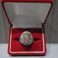 Batu Cincin Lumut Suliki + Ring Titanium 9