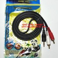 Kabel Jack RCA 2-1 MINI STEREO (AUX 3,5mm) ke 2 RCA 1,5m HP ke Speaker