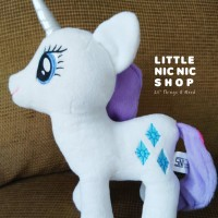 Boneka My Little Pony - Rarity - Rattle Plush Toy