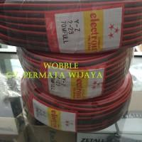 Kabel NYZ Hitam Merah 2x23 - Listrik/Sound System Per METER