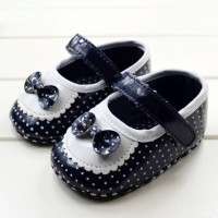 Sepatu bayi Baby Girl shoes - Hitam Polkadot 11cm