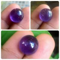 Batu akik natural amethys / kecubung ungu