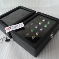 EXCLUSIVE FULL BLACK LEATHER RING BOX   TEMPAT CINCIN   KOTAK CINCIN