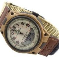 jam tangan pria tali kanvas casio aw80v-5 ori kain canvas strap coklat