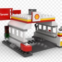Lego Shell Ferari Gas station