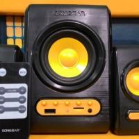 SONIC GEAR [ QUATRO V ] - Speaker + FM Radio, USB & Micro SD + Remote