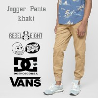 Celana Jogger Pria | Cream | Krem | Khaki | VANS DC Rebel Eight