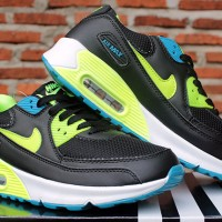 Nike Airmax High Women Hitam Hijau Biru(sepatu kets,running,casual)