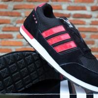 Adidas Neo V.2 Hitam Strip Merah(sepatu kets,olahraga,casual,running)