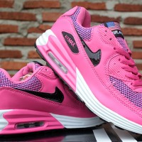 Nike Airmax High Women Pink Putih Hitam(sepatu kets,running,casual)