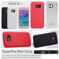Samsung Galaxy S6 SVI Edge G925 - Nillkin Victoria Leather Full Covere