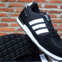 Adidas Neo V.2 Hitam Strip Putih(sepatu ket, casual, running,olahraga)