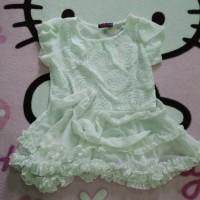 layer white blouse / baju wanita / atasan wanita / atasan chiffon