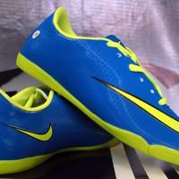 sepatu futsal,bola,Nike Mercurial Superfly Biru Hijau