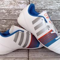 sepatu futsal,bola,Adidas Nitrocharge 4.0 Putih Biru