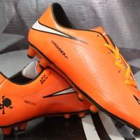Sepatu bola nike,Nike Hypervenom Full Orange
