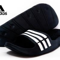 Sandal Adidas Duramo Hitam (Nike,Selop,Sendal,Futsal,Bola,Olahraga)