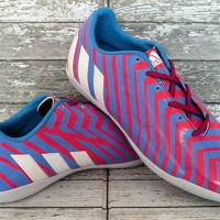 sepatu futsal,bola,Adidas Predator Absolion Pink Biru