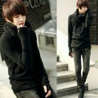 Jaket Sweater Pria Black Ninja