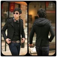 Jas Blazer Pria Korea Winter young Keren - Hitam, L